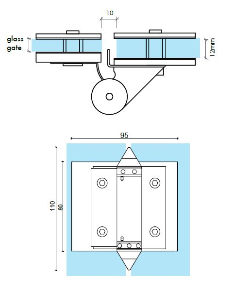 Glass To Glass Pool Fence Gate Hinge Set Diy Glass