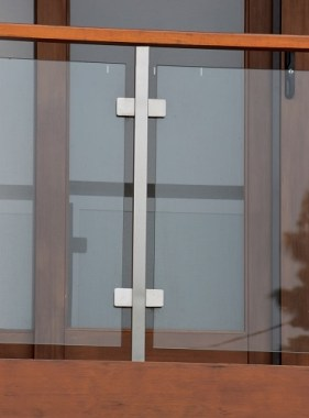 Square Stainless Glass Balustrade Post