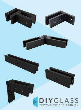 Black Glass Bracing Clamps
