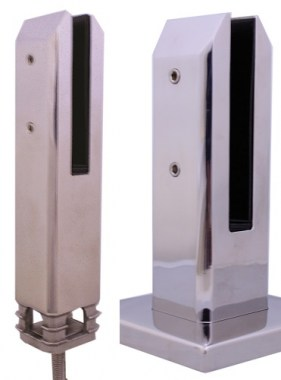 Square Stainless Glass Spigots