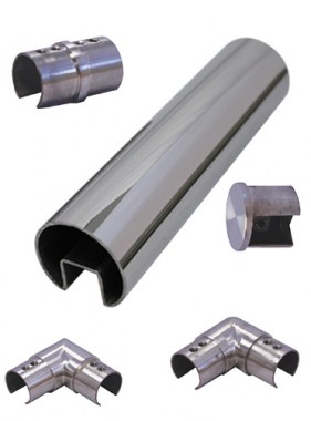 38mm Round Stainless Steel Glass Pool Fence Top Rails