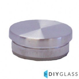 38mm Flat End Cap for Glass Balustrade Top Rail