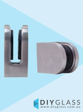 D Front, Flat Back Glass Clamp  for Glass Balustrade / Pool Fence