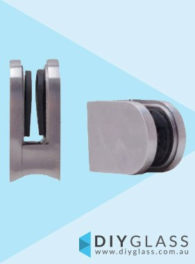 D Front, Round Back Glass Clamp  for Glass Balustrade / Pool Fence