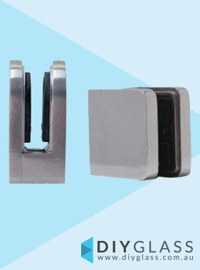 Square Front, Flat Back Glass Clamp  for Glass Balustrade / Pool Fence