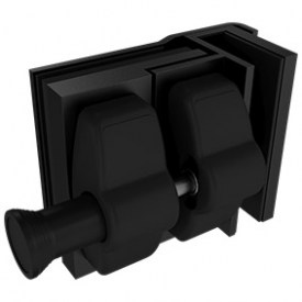 Black Glass Gate Latch for External Glass to Glass