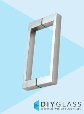 Square Chrome Shower Screen Door Handle
