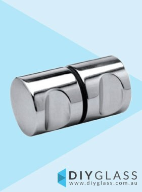 Round Chrome Shower Screen Door Knob