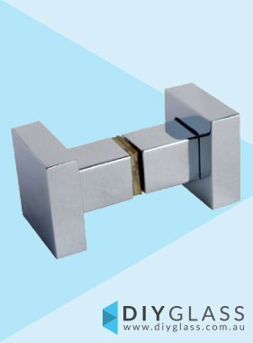 Square Recessed Chrome Shower Screen Door Knob