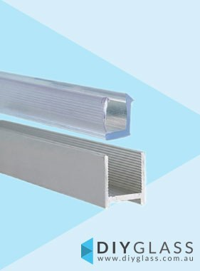 2100mm Long Satin Shower Screen Aluminium U Channel