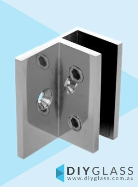 Offset Wall Bracket - Chrome Plated -  For Shower Screen