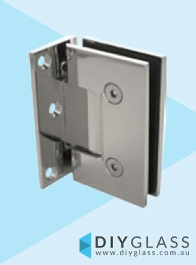Offset Wall to Glass Chrome Shower Screen Door Hinge