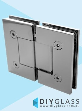 Glass to Glass Chrome Shower Screen Door Hinge