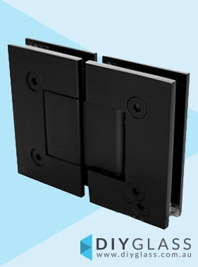 Glass to Glass Matt Black Shower Screen Door Hinge