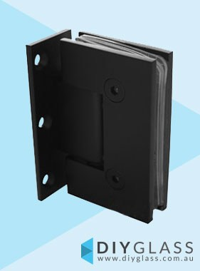 Offset Wall to Glass Matt Black Shower Screen Door Hinge