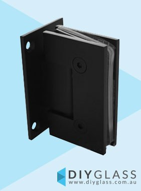 Wall to Glass Matt Black Shower Screen Door Hinge