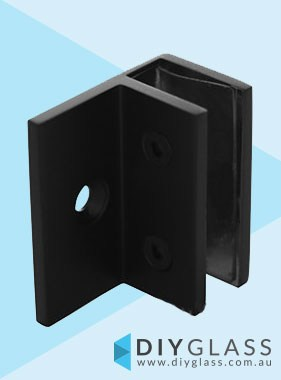 Offset Wall Bracket - Matt Black -  For Glass Shower Screen