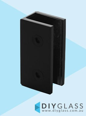 Wall Bracket - Matt Black -  For Glass Shower Screen