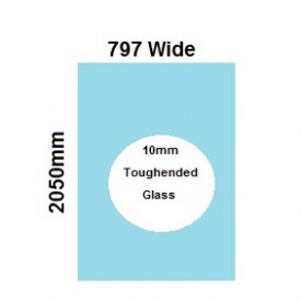 797mm Glass Shower Screen Panel