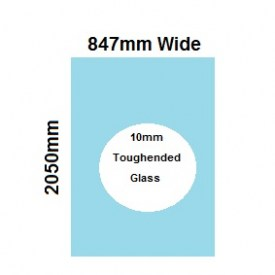 870mm Glass Shower Screen Panel