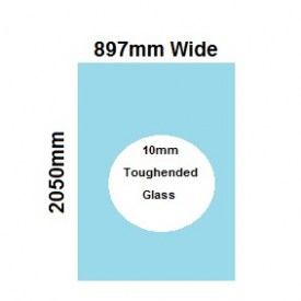 897mm Glass Shower Screen Panel