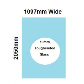 1097mm Glass Shower Screen Panel