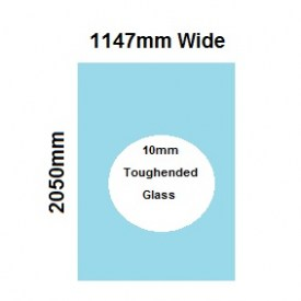 1147mm Glass Shower Screen Panel