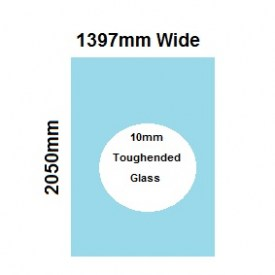 1397mm Glass Shower Screen Panel
