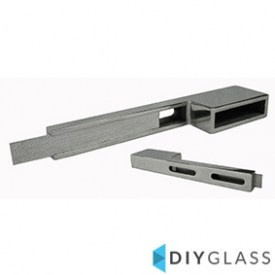 50x10mm Extended Wall Plate for Glass Offset Rail