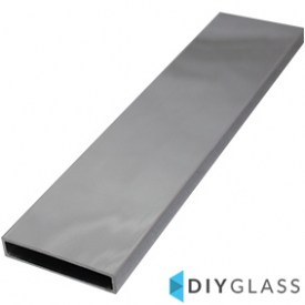 50x10mm 2900mm Long Glass Offset Rail Tube