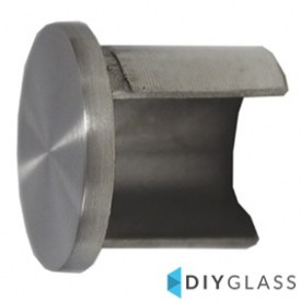 25.4mm End Cap for Glass Top Rail