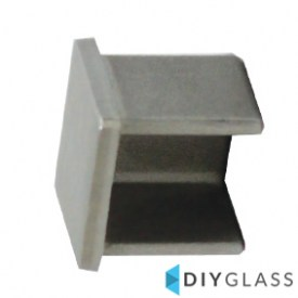 25x21mm End Cap for Glass Balustrade Top Rail