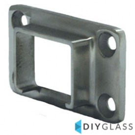 40x30mm Wall Plate for Glass Top Rail