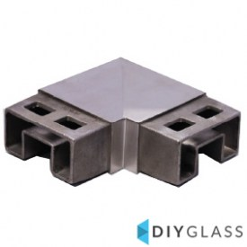 54x30mm 90 Degree Joiner for Glass Top Rail