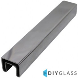 25x21mm 5800mm Long Slotted Glass Balustrade Top Rail