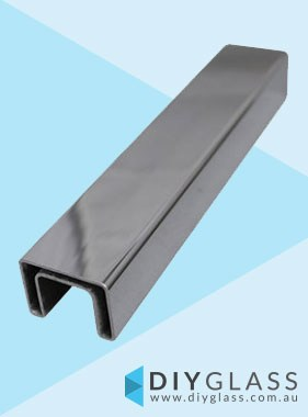 40x30mm 5800mm Long Glass Top Rail Tube