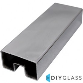 54x30mm 2900mm Long Glass Top Rail Tube