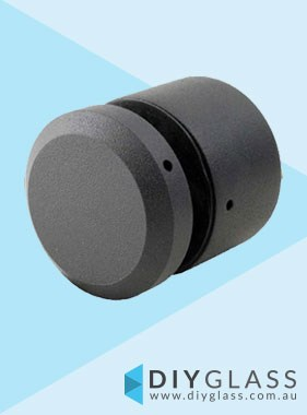 Black 38mm Diameter x 25mm Body Standoff for Face Mount Glass Balustrade / Pool Fence
