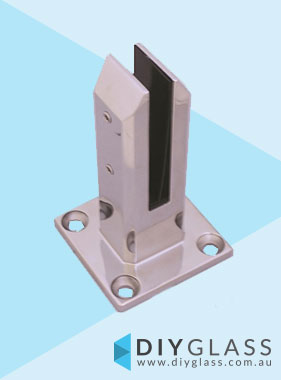 Square Base Plated Spigot for Glass Balustrade or Pool Fence